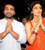 Hrithik,Ameesha,Shilpa Shetty At Ganesh Idol Immersion Procession