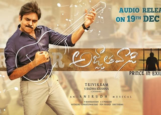 Agnathavasi Movie Poster Designs