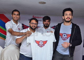 Akhil At Hyderabad Football League Photo Gallery