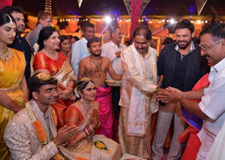 NTV Director Narendra Chowdary Daughter Rachana Marriage Photo Gallery
