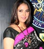Lara Dutta on the sets of KBC Photo Gallery