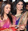 Kajal & Deeksha Seth at Kalamandir Store Launch