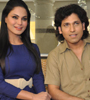 Veena Malik & Rajan Verma at Zindagi 50-50 Press Meet