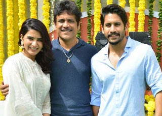 Naga Chaitanya And Samantha Movie Opening Photo Gallery