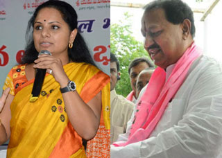 TRS MP Kavitha releases memorandum against DS